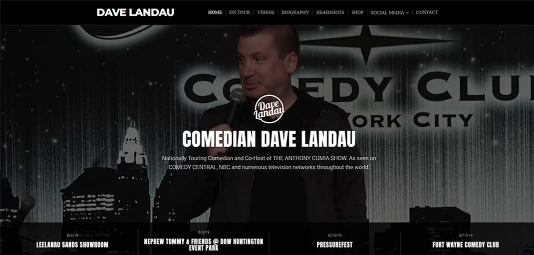 Image: Comedian Dave Landau, Akin IT Services