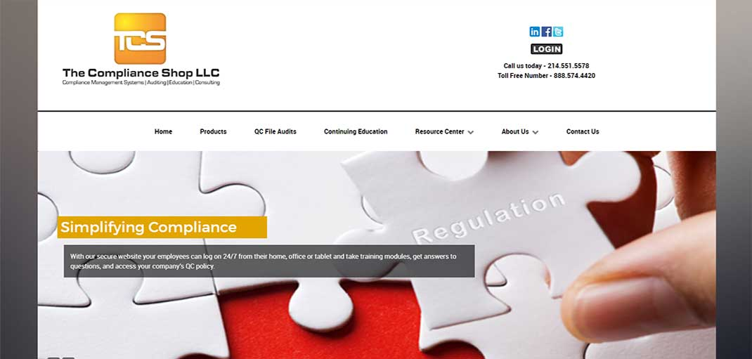 Image: The Compliance Shop, Akin IT Services, Web Design